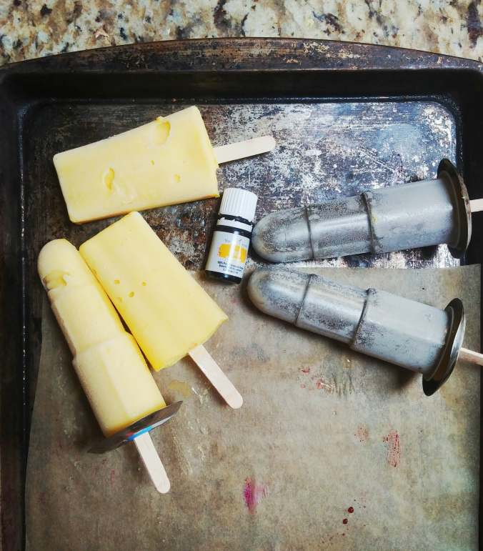 Island Citrus Cream Pops (vegan), coconut, mango, pineapple and citrus essential oils